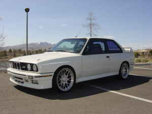 1988 BMW e30 M3 Alpine White BBS Rims