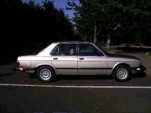 1983 BMW 528e Side View