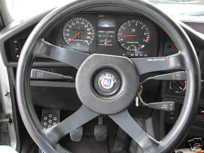 Alpina B9 Steering Wheel and Instruments