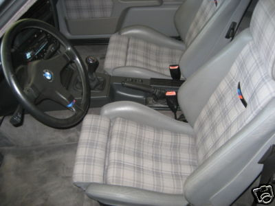 1988 BMW e30 M3 EVO II For Sale Plaid Interior