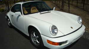 1990 Porsche 964 Carrera 2 White on Black for sale