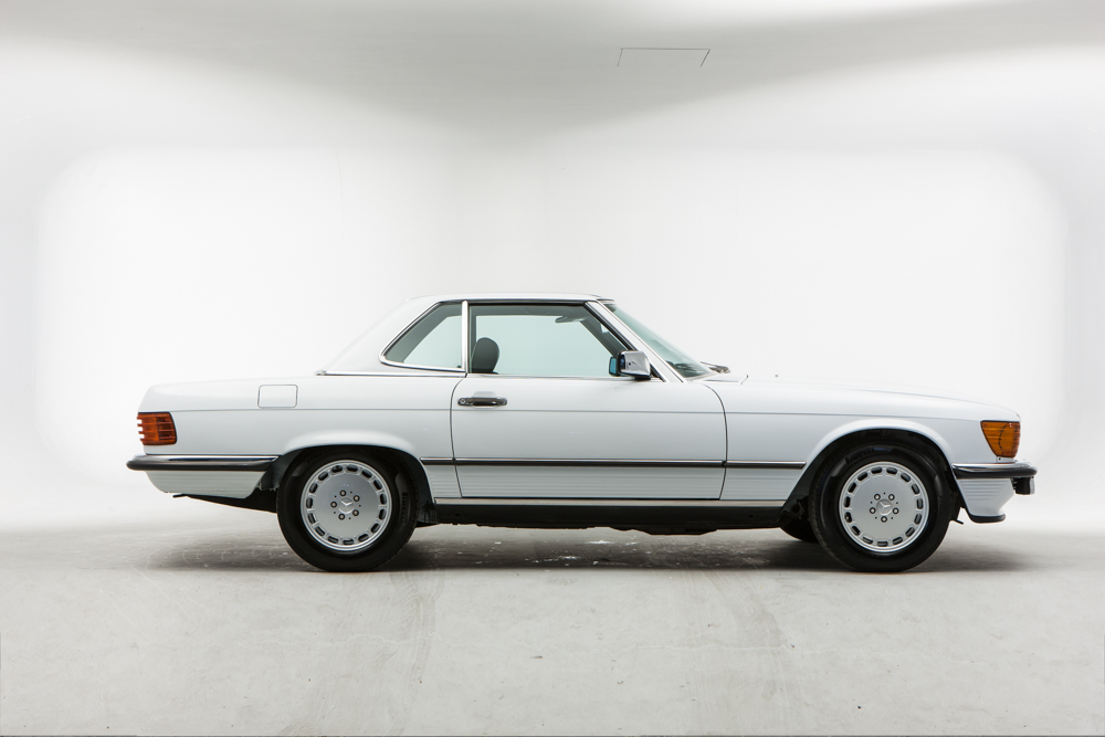 MERCEDES SL280 Cabriolet Toit Hardtop Support Chariot avec Free cover