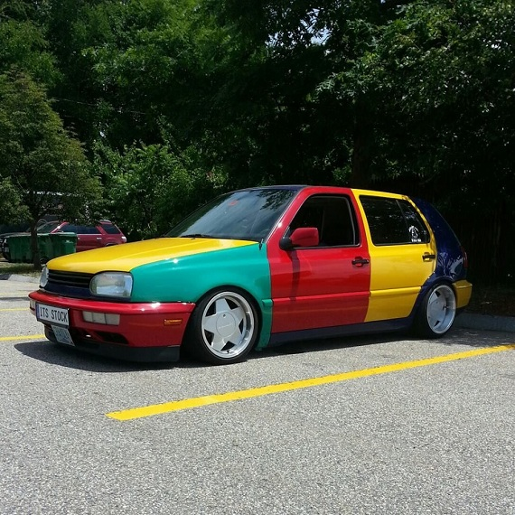 Tuner Tuesday: 1996 Volkswagen Golf Supercharged Harlequin Replica | German Cars For Sale Blog