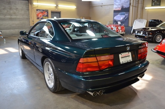 1995 BMW 850 CSI Oxford Green Metallic With Grey White Leather Interior And Carpeting 30000 Miles From New 6 Speed Manual Collector Owned