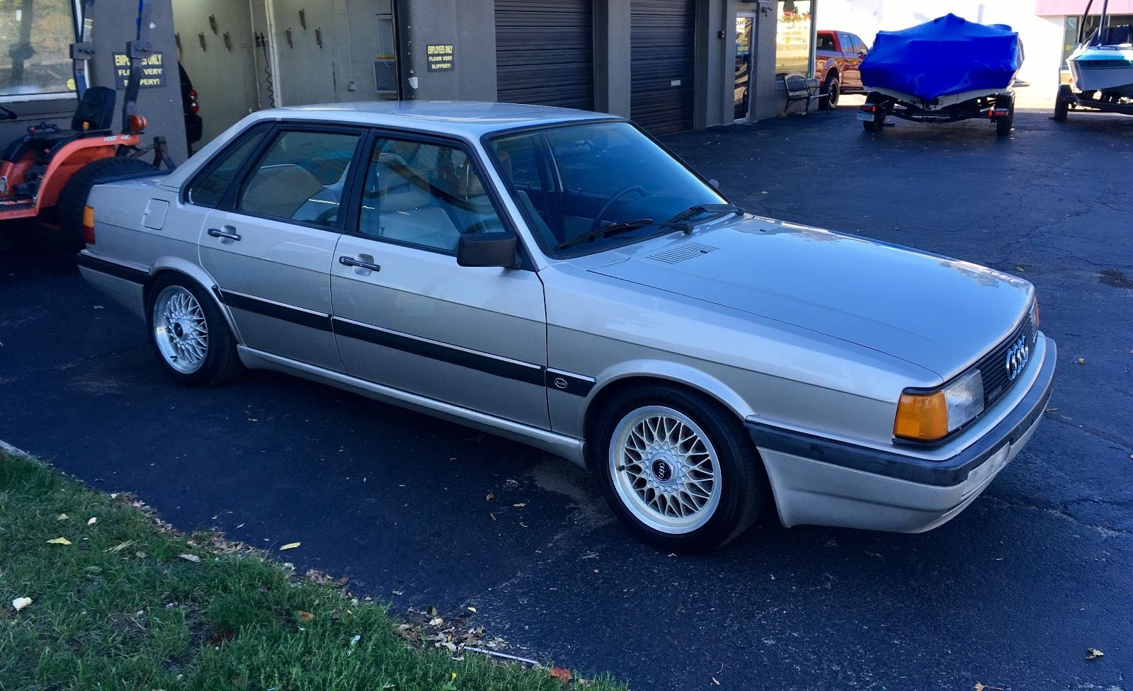 Edit: After selling last year on Bring A Trailer for $5,050 after we  featured it in April, the current owner of the 1985 Audi 4000S quattro with  some nice ...