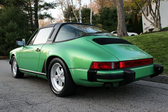 Viper Green Metallic 1980 Porsche 911sc Targa German