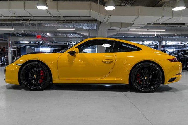 Signal Yellow 2017 Porsche 911 Carrera Gts Coupe German Cars For